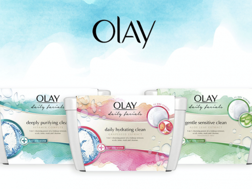 Oil of Olay Product Label Design